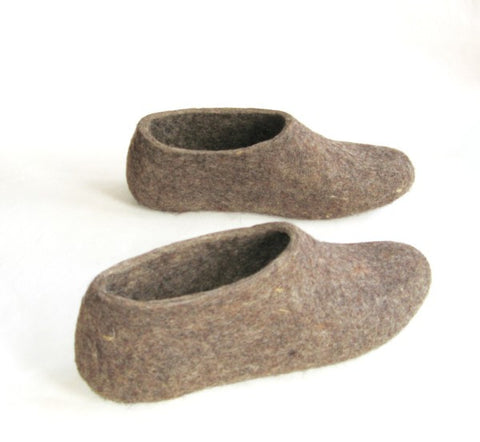 Womens Eco Friendly Felt Slippers Indoors