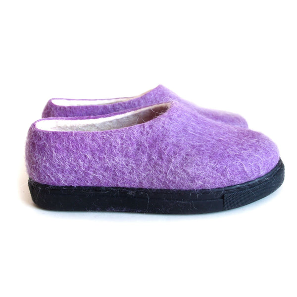 Women Breathing Wool Felt Shoes Lilac