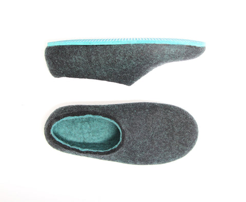 Womens Felted Slippers Lucite
