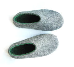 Mens Indoor Felt Slippers Woods - Wool Walker  - 4