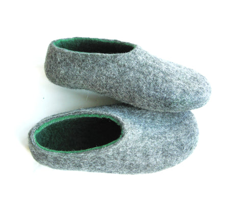 Mens Indoor Felt Slippers Woods