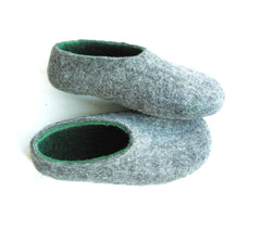 Mens Indoor Felt Slippers Woods - Wool Walker  - 1