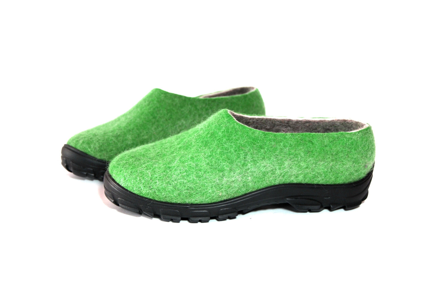Mens Wool Felt Shoes Green Travel