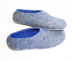 Custom Felt Slippers. Upper Grey with 49 Color Trends For Interior. Unisex - Wool Walker  - 57