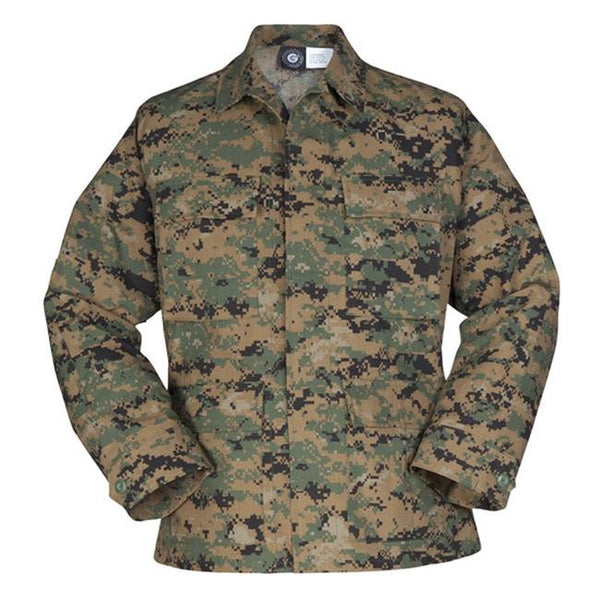 Genuine Gear: BDU Ripstop Shirt / Coat - Digital Woodland