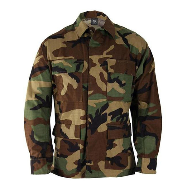 Genuine Gear: BDU Ripstop Shirt / Coat - Woodland Camo