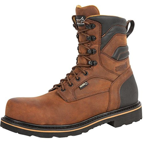 "Rocky Men's 8"" Governor Composite Boots Brown"