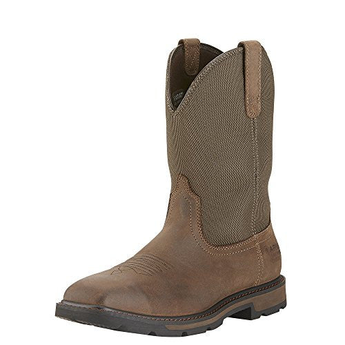Ariat Men's Groundbreaker Wide Toe, Steel Toe Work Boot - Brown