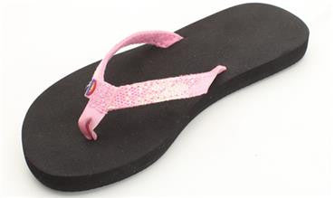 Rainbow Kids Sandiva - Soft Rubber Top Sole with a Glitter Strap Pink