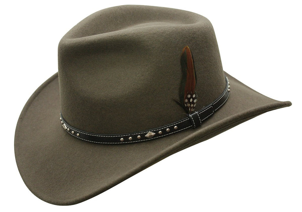 Conner: Outback 100% Waterproof Wool Hat Loden