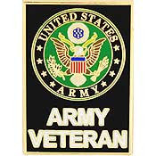 "PINS- ARMY SYMBOL, VETERAN (1-1/8"")"
