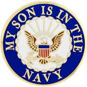 "PINS- USN Navy LOGO, SON (15/16"")"