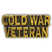 "PINS- SCRIPT, COLD WAR VET. (1"")"