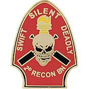 "PINS- USMC, Marine Core 002ND RECON BN. (1"")"