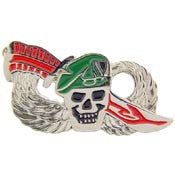 "WING- SKULL & KNIFE (1-3/8"")"