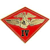 "PINS- USMC, Marine Core 004TH MC WING (1-1/8"")"