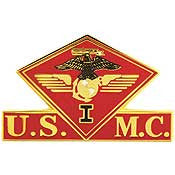 "PINS- USMC, Marine Core 001ST MC WING (1-3/8"")"