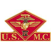"PINS- USMC, Marine Core 004TH MC WING (1-3/8"")"