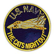 "PINS- USN, Navy THE CATS NIGHT OU (1"")"