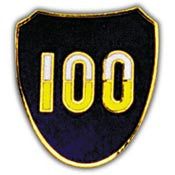 "PINS- ARMY, 100TH INF.DIV. (1"")"