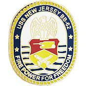 "PINS- USS, Navy NEW JERSEY (1"")"