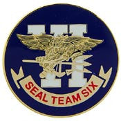 "PINS- USN, Navy SEAL TEAM, 06 (15/16"")"