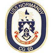 "PINS- USS, Navy NORMANDY (1"")"