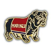 "PINS- USMC, Marine Core BULLDOG, BLACK (1"")"