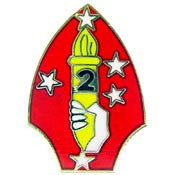 "PINS- USMC, Marine Core 002ND DIV. (MINI) (7/8"")"