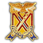 "PINS- USMC, Marine Core 004TH RGT. (1"")"