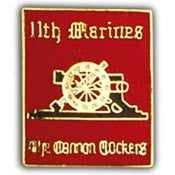 "PINS- USMC, Marine Core 011TH RGT. (1"")"