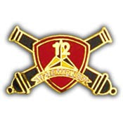 "PINS- USMC, Marine Core 012TH RGT. (1"")"