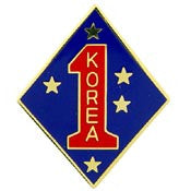 "PINS- KOREA, Marine Core 1ST MC DIV. (1"")"