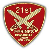 "PINS- USMC, Marine Core 021ST REGIMENT (1"")"