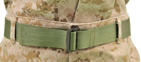Raine: Military Riggers Belt Green - Medium