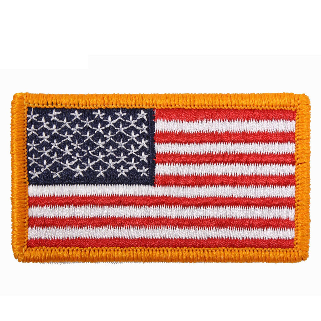 Rothco Patches: American Flag Embroidered Patch Iron On / Sew On
