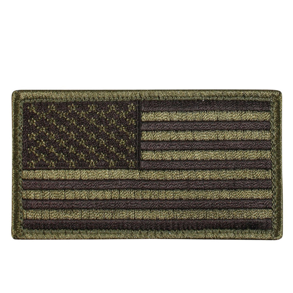 Rothco Patches: American Flag Patch OD/Black