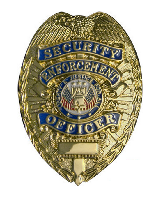 Rothco Badges: Deluxe Security/Enforcement Officer / Gold