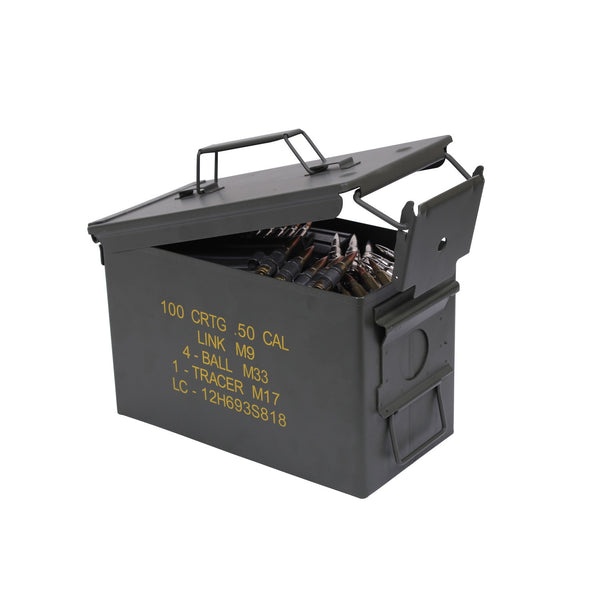 Rothco Ammo: Mil-Spec 50 Cal. Ammo Cans
