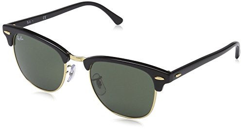 Ray-Ban G-15 Clubmaster Classic Lens Sunglasses - Black