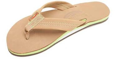 Rainbow Women's The Tropics Single Layer Premier Leather w/ Colorful Midsole Sierra Lime Wide