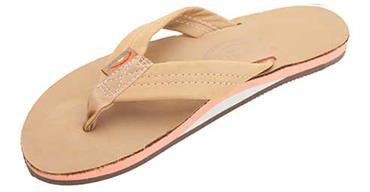 Rainbow Women's The Tropics Single Layer Premier Leather w/ Colorful Midsole Sierra Melon Wide