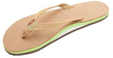 Rainbow Women's The Tropics Single Layer Premier Leather w/ Colorful Midsole Sierra Lime Narrow