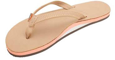Rainbow Women's The Tropics Single Layer Premier Leather w/ Colorful Midsole Sierra Melon Narrow