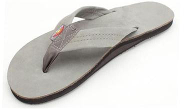 Rainbow Men's Single Layer Premier Leather w/ Arch Support Grey