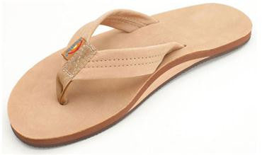 Rainbow Sandals Men's Single Layer Premier Leather With Arch Support Sierra Brown