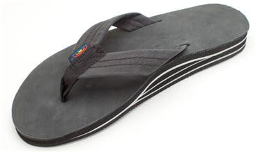 Rainbow Women's Double Layer Premier Leather with Arch Support Sierra Black
