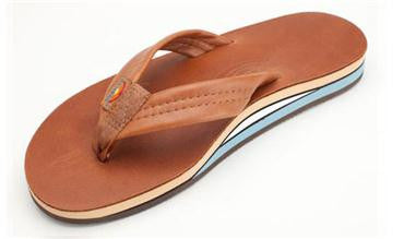7e8d73f56 Rainbow Women s Double Layer Premier Leather with Arch Support Sierra  Tan Blue