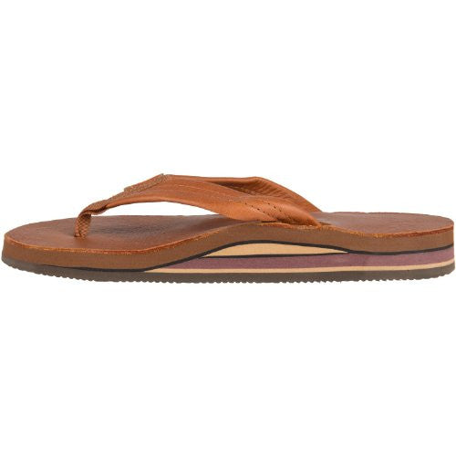 e27445fbe Rainbow Sandals Women s Classic Leather - Tan With Brown Double Layer