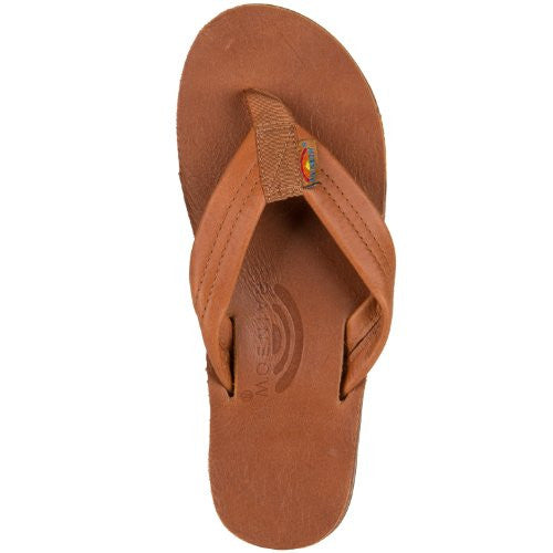 8b1f81f83894 Rainbow Sandals Women s Classic Leather - Tan With Brown Double Layer